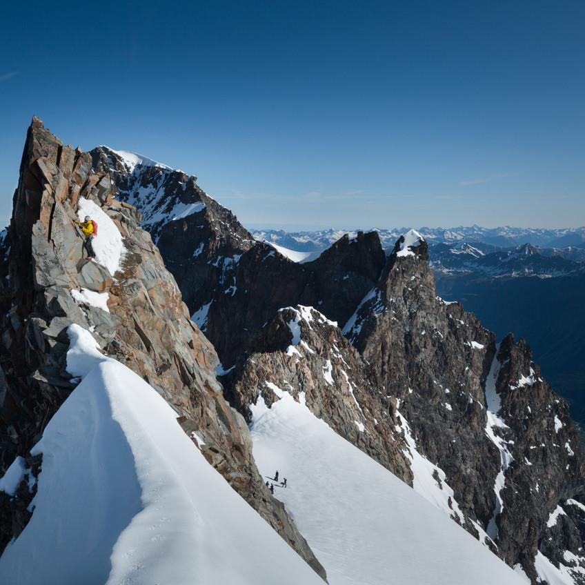 Kletterei mit Ausblick