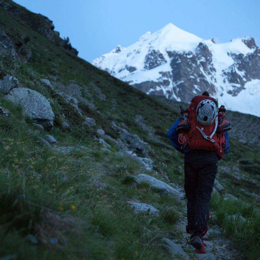 Zustieg zur Tschierva Hütte