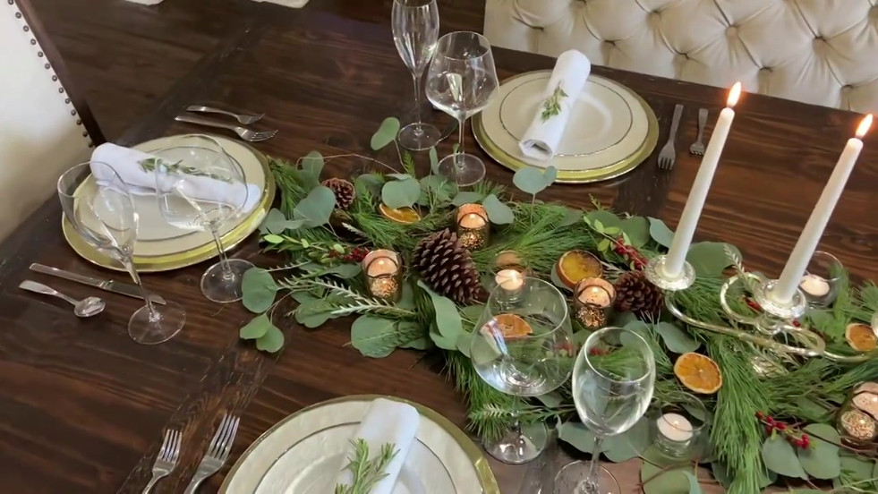 Celebrate the Season with a Festive Tablescape: Join us as we build a fun and festive holiday tablescape that you can re-create in your own home! Season's Greetings from your friends at Dallas Fan Fares!