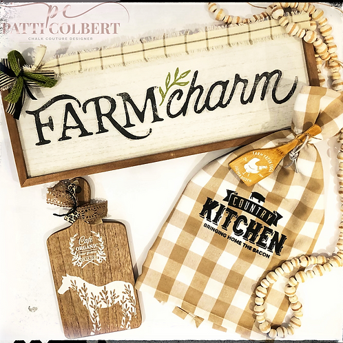 Farm Charm Boards and Towel