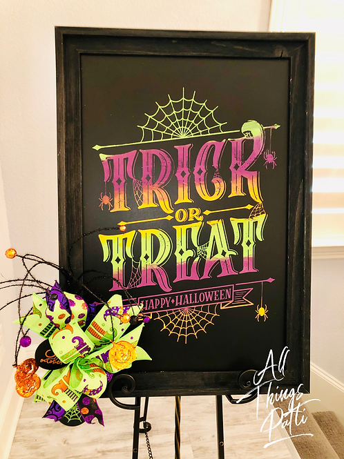 Trick or Treat Framed Art Decor
