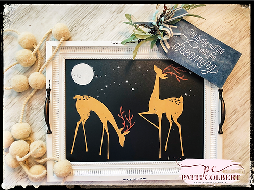 Winter Wishes Deer Tray Decor