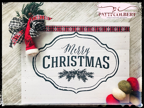 Merry Christmas Pallet Sign