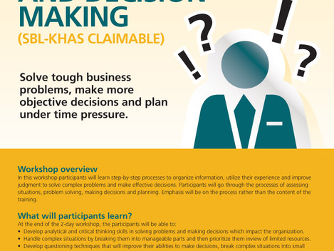 PROBLEM SOLVING AND DECISION MAKING WORKSHOP