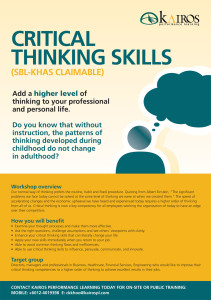 LOOKING FOR CRITICAL THINKING SKILLS TRAINING?