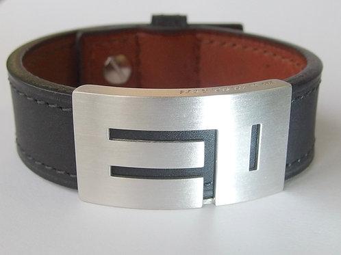 """Bracelet en cuir """"Initiales"""""""