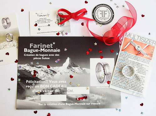 """Bon cadeau pour la bague """"FARINET"""" Valais"""