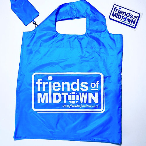 FOM Foldable Shopping Bag + Window Decal