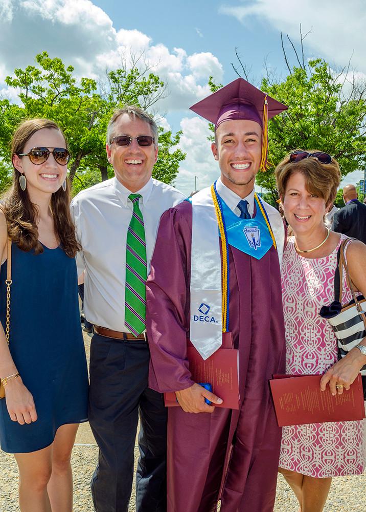Graduation family portraits.