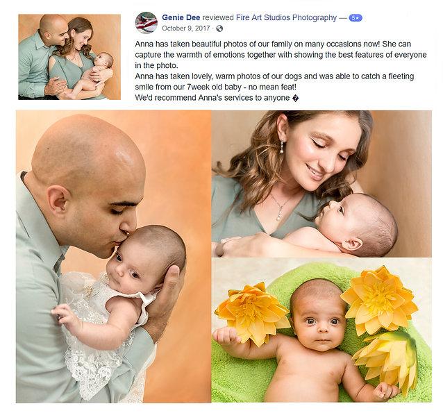 Baby Portrait testimonial Fir Art Studios