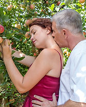 Adam and Eve. Photo session in the Carter Mountain Orchard.