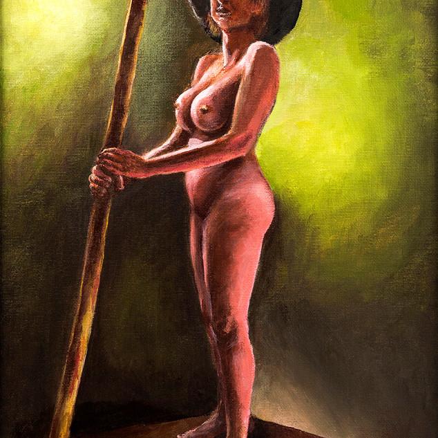 Girl with a pole