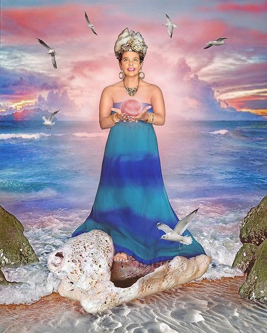 Yemaja Goddess Fine Art Portrait by Anna Zaharyan