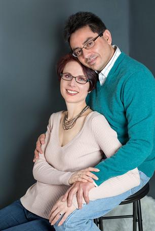 Studio couples photography