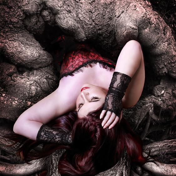 Girl inside the tree
