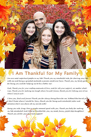 Thankful for my family poster. Fall family photo session Richmond VA