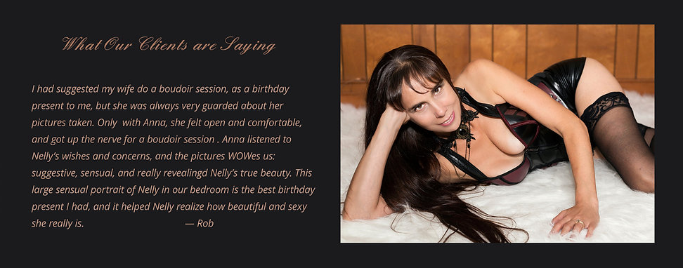 Husband's testimonial on boudoir
