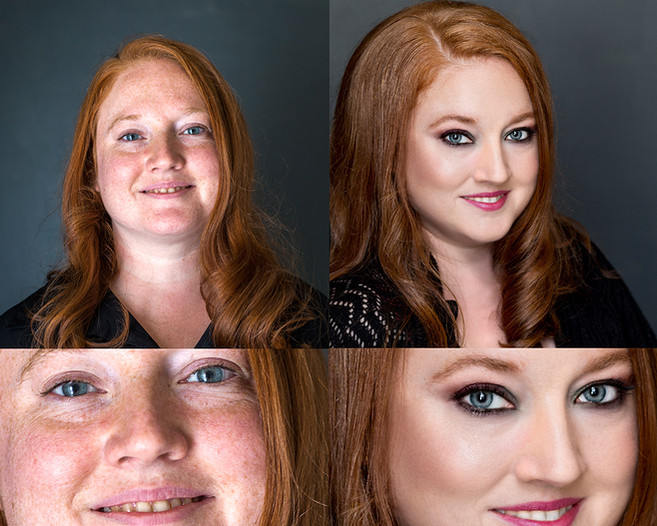 Facial photo retouching.