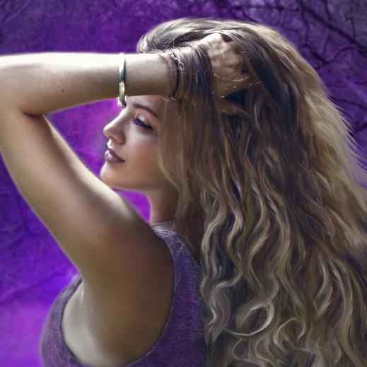 Girl in purple