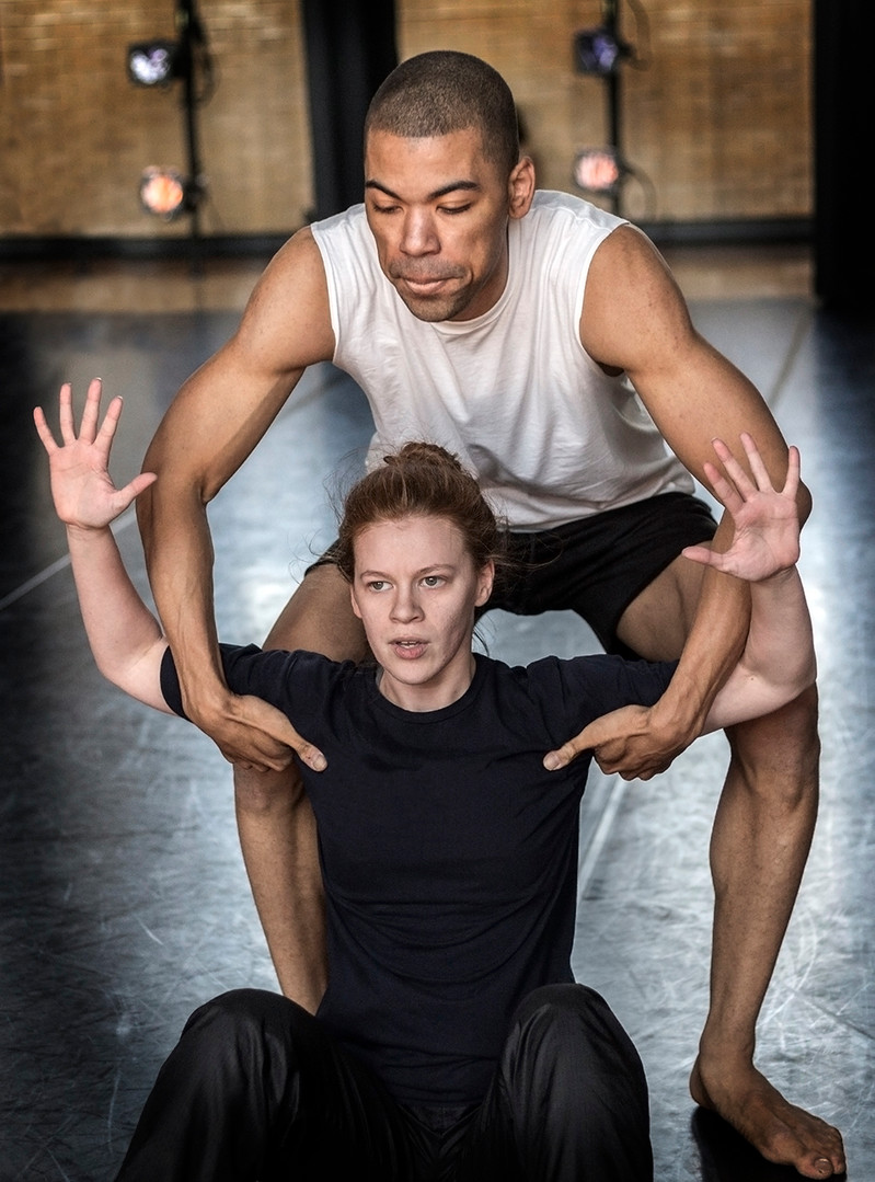Portraits of dancers during performance