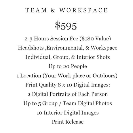 TEAM AND WORKSPACE PHOTOGRAPHY PRI