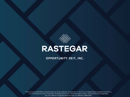 Rastegar Property Company, LLC Launches Rastegar Opportunity REIT, Inc.