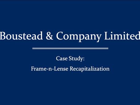 $37,000,000  National Vision Associates LTD. (NASDAQ: NVAL) has recapitalized Frame-n-Lens, Inc.
