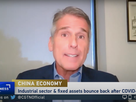 Boustead's Dan McClory Discusses The Rise In China's Industrial Production on CGTN