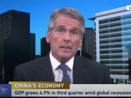 """Boustead's Dan McClory Discusses China's 4.9% GDP Growth In 3rd Quarter on CGTN's """"The Heat"""""""