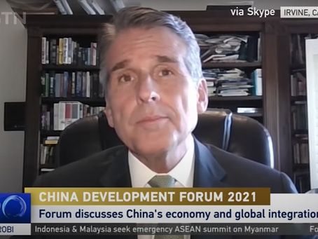 Boustead's Dan McClory on Annual 'China Development Forum' in Beijing on CGTN