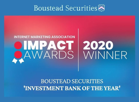 Boustead Securities Receives 'Investment Bank of the Year' Award at IMPACT20