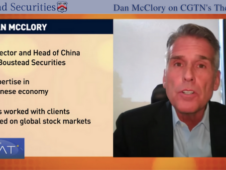 Boustead's Dan McClory Talks China-U.S. Relations on CGTN's The Heat