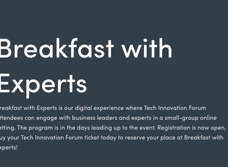 Join Boustead CEO Keith Moore for Tech Innovation Forum's Virtual 'Breakfast With Experts'