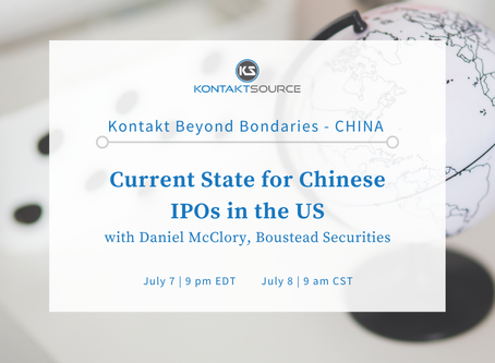 Boustead's Dan McClory to Lead Kontact Virtual Program: 'Current State for Chinese IPOs in the US'