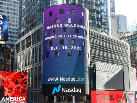 Wunong Net Technology Completes First Days of Trading on the Nasdaq Capital Market