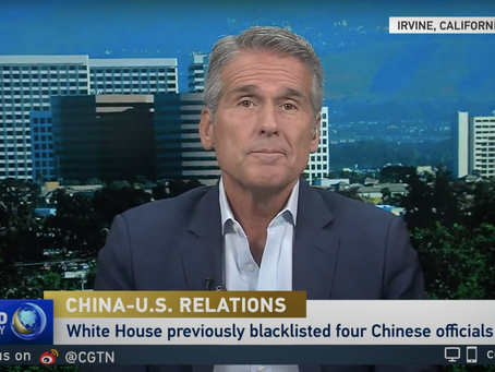 Boustead's Dan McClory discusses China-U.S. relations on CGTN