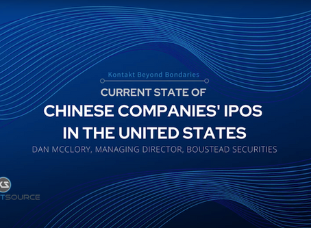 """Boustead's Dan McClory Discusses """"Recent Developments in the Chinese Companies' IPOs in the US"""""""