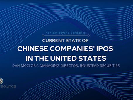"Boustead's Dan McClory Discusses ""Recent Developments in the Chinese Companies' IPOs in the US"""