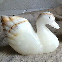 Light Green Onyx Swan