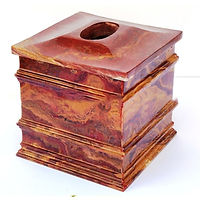 Onyx Tissue Box Cover Holder