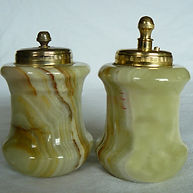 Onyx Salt Paper Shakers