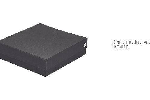 Sıvamalı Rivetli Set Kutusu ( 18 x 20 cm )