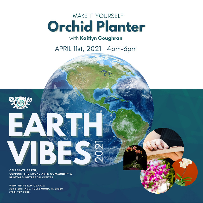 Earth Vibes Orchid Planter