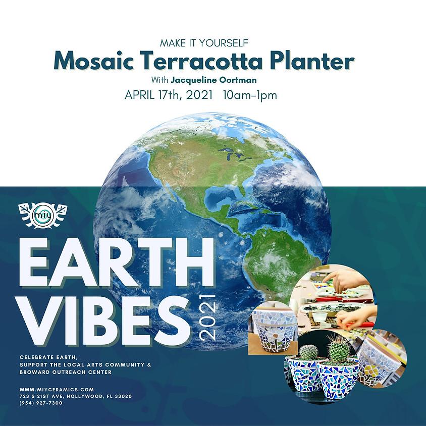 Earth Vibes Mosaics Planters