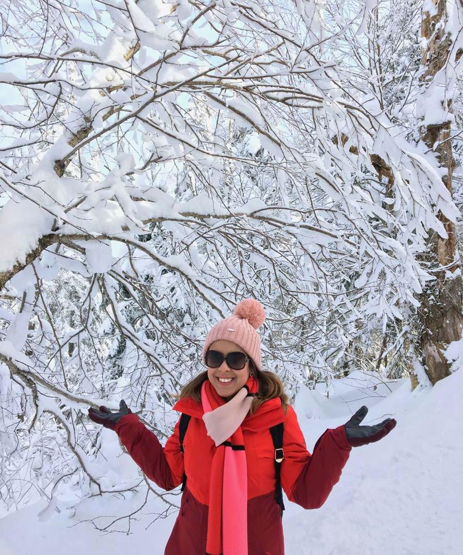 Snowshoeing em Mont-Tremblant