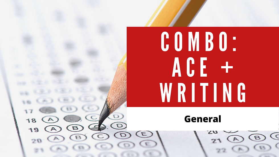 Combo Ace the IELTS + Writing Course Basic - General