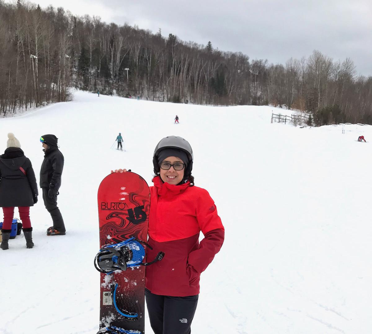 Snowboard no Sommet Saint-Sauveur