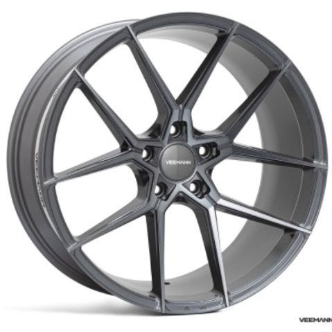 19x8.5 Veemann Wheels VFS-39F Black Machined Black