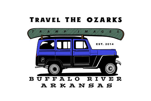 Travel The Ozarks T-Shirt - Canoe