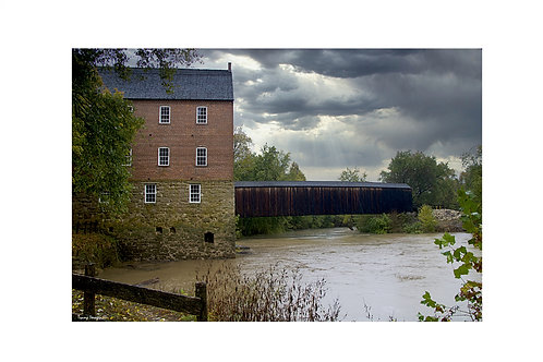 Bollinger Mill & Bufordville Covered Bridge - Print